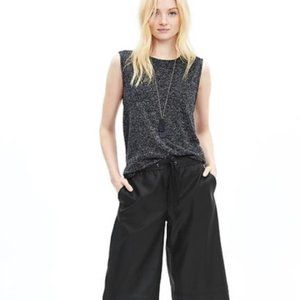 BANANA REPUBLIC Vegan Leather wide leg trouser 0 2
